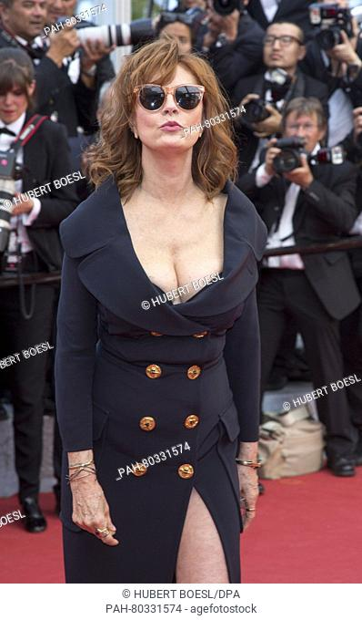Actress Susan Sarandon attends the premiere of Money Monster during the 69th Annual Cannes Film Festival at Palais des Festivals in Cannes, France