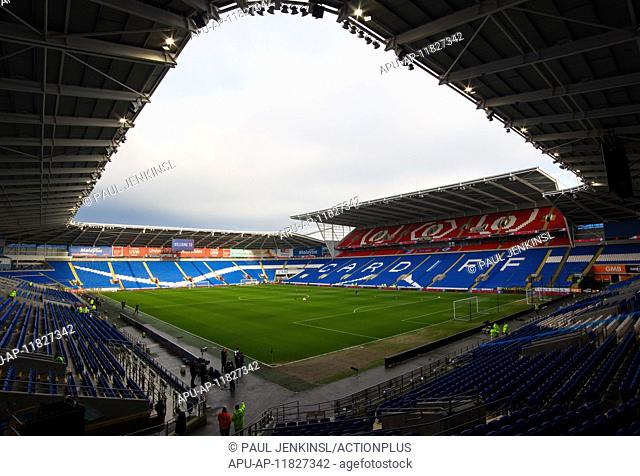 2017 FA Cup 3rd Round Cardiff City v Fulham Jan 8th. 08.01.2017. Cardiff City Stadium, Cardiff, Wales. FA Cup third round football