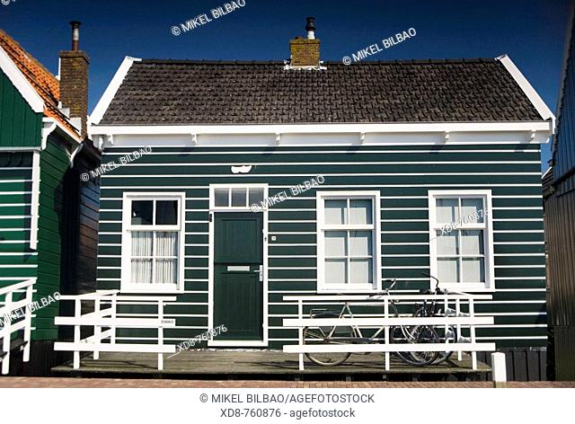 Wooden house in Marken, Waterland municipality , North Holland province, Holland, Netherlands, Europe