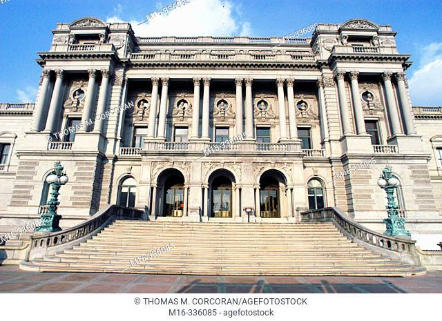 Thomas Jefferson building, Library of Congress. Washington D.C. USA