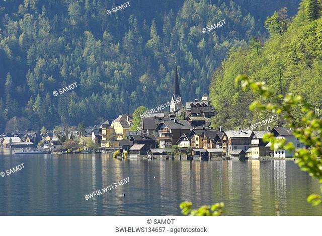 lake Hallstatt, Hallstaetter See, Austria, Oberoesterreich, Dachstein Area, Hallstatt