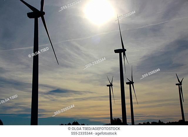 Wind turbines. Catalonia, Spain