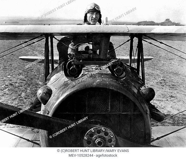 Edward Vernon Rickenbacker (1890-1973), nicknamed Fast Eddie, American fighter pilot and air ace of 94th Aero Squadron during the First World War