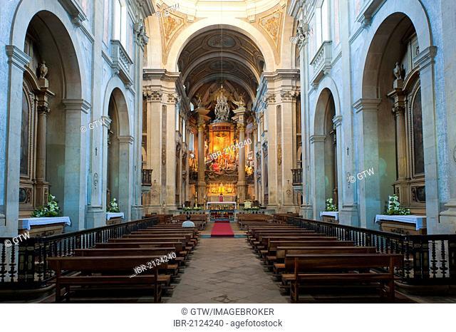 Bom Jesus do Monte Sanctuary, interior, Braga, Minho, Portugal, Europe