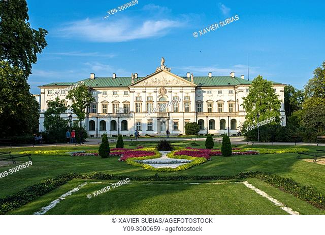 Krasinski Palace, National Library Special Collections Division, Krasinski Garden, Warsaw, Poland