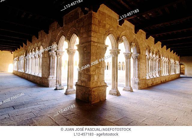 Cloister of the Santa María la Real convent, Nieva. Segovia province, Castilla-León, Spain