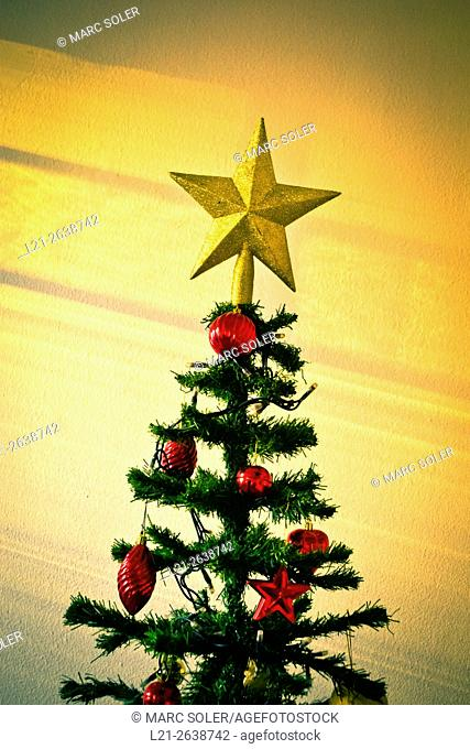 Christmas tree with a star