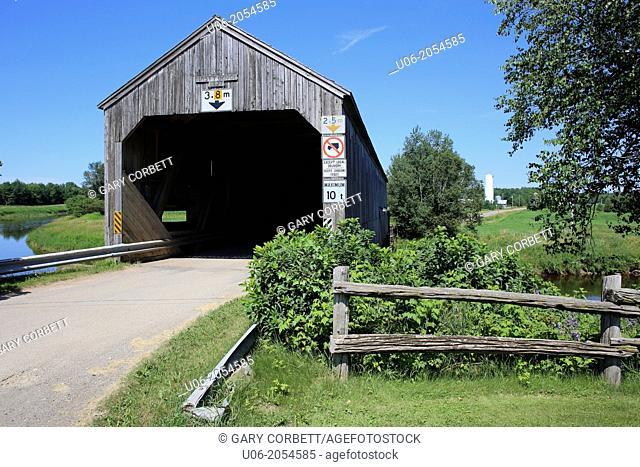 The Hasty Covered Bridge in Westmorland on the Petitcodiac River, New Brunswick, Canada