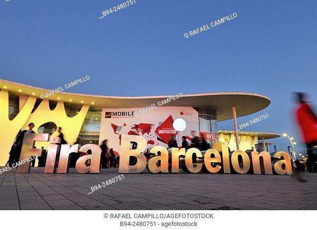 Mobile World Congress. Fira de Barcelona. Gran Via avenue, Av. Joan Carles I, 64. Architect: Toyo Ito, Hospitalet de Llobregat. Barcelona. Catalonia