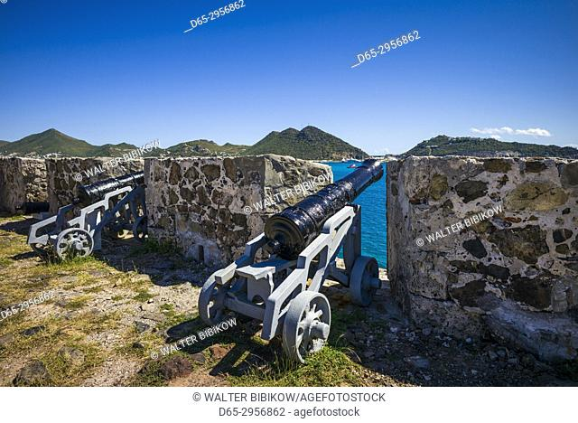 Netherlands, Sint Maarten, Philipsburg, Fort Amsterdam ruins