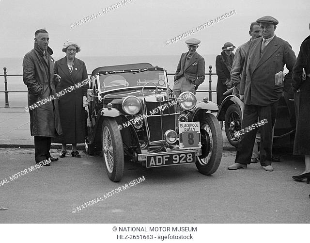 MG PA 847 cc. Event Entry No: 8. Driver: Rippon, P.A. Place: Blackpool Rally. Date: 12-14.6.36