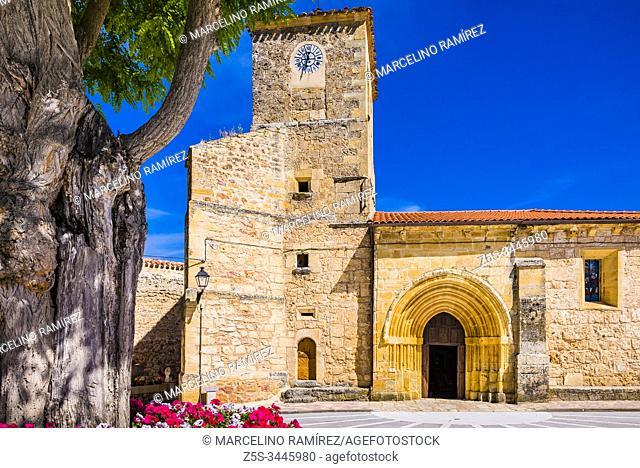 Church of Santa María. Tubilla del Agua, Valle del Rudrón, region of Páramos, Burgos, Castilla y Leon, Spain, Europe
