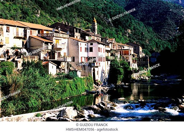 France, Alpes Maritimes, village of Fontan in the Roya Valley