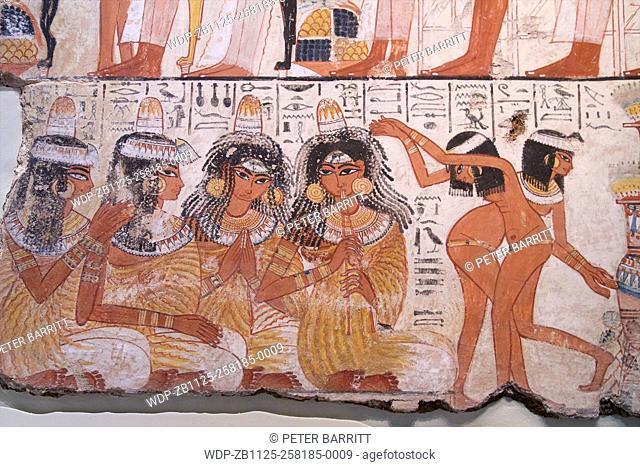 Feast for Nebamun, tomb-chapel decoration, British Museum, London, UK