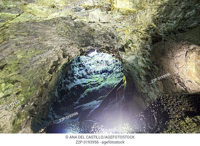 Algar do Carvao Caves, Terceira Island, Azores, Portugal, Europe