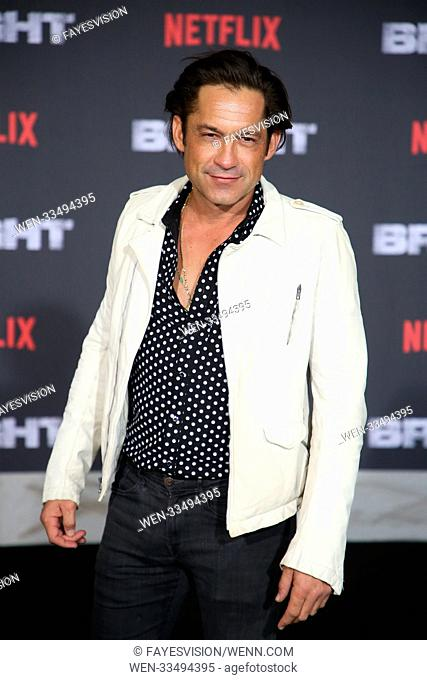 Premiere of Netflix's 'Bright' held at the Regency Village Theatre - Arrivals Featuring: Enrique Murciano Where: Westwood, California