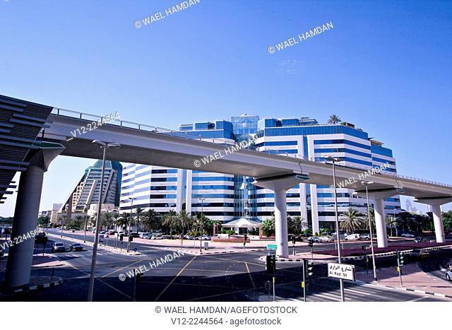 Metro Station, Public Transport, Dubai, United Arab Emirates, Middle East