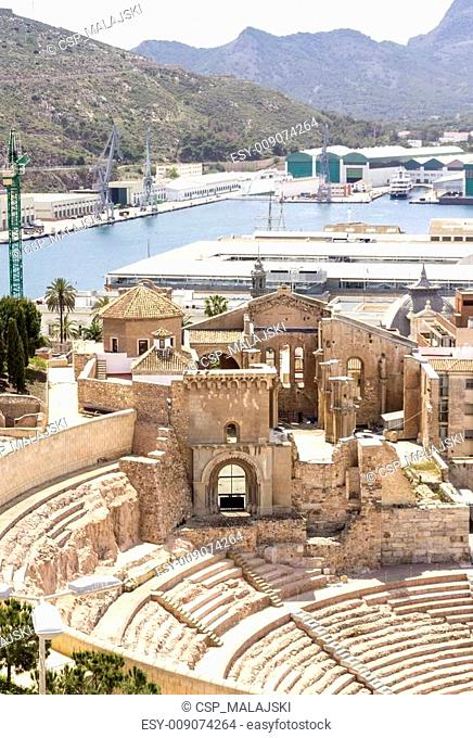 Roman Amphitheater in Cartagena, Murcia, Spain