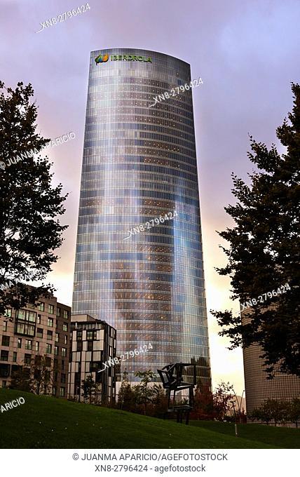 Iberdrola Tower, Bilbao, Biscay, Basque Country, Euskadi, Euskal Herria, Spain, Europe