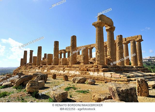 Hera Temple, Juno Lacinia Temple, Valle dei Templi, Valley of Temples, Agrigento, Sicily, Italy, Europe
