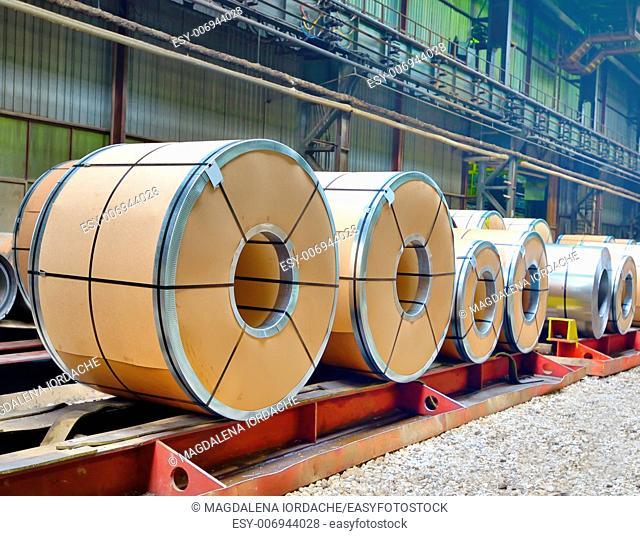 sheet rolls in warehouse shoot inside of plant