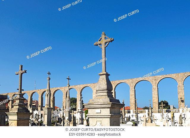 Roman Aqueduct, Vila do Conde, Douro Region, Northern Portugal