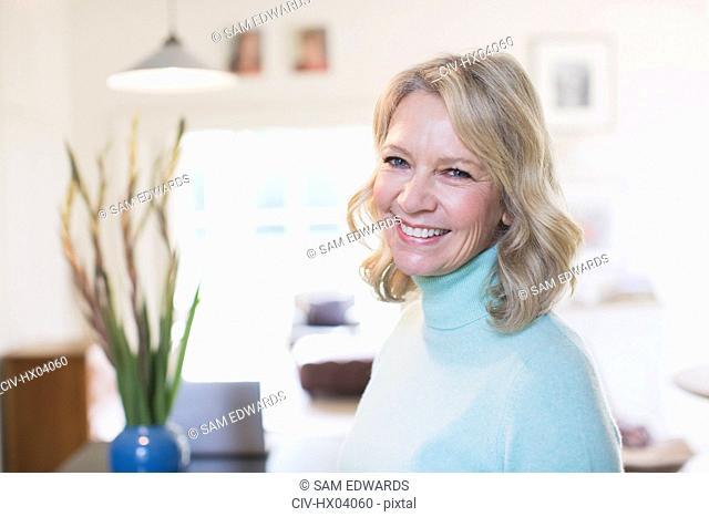 Portrait smiling confident mature woman