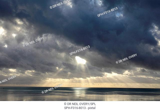 Dawn clouds, Indian Ocean, Jambiani, Zanzibar, Tanzania