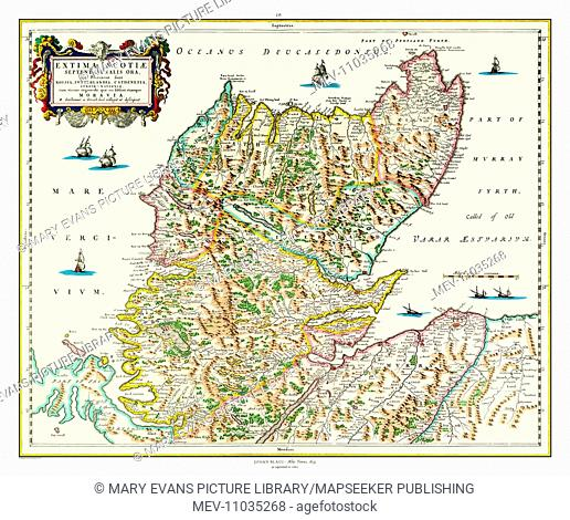 Map of Northern Scotland (Sutherland and Caithness) by Johan Blaeu