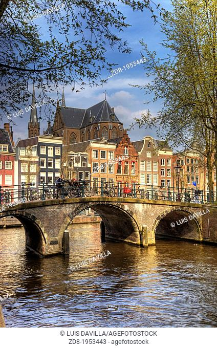 leidsegracht in old town. amsterdam