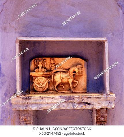 Rajput statue in Jodhpur in India