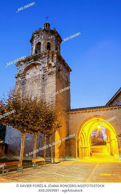 St. James way; Church of the Crucifix at Puente la Reina, Navarra, Spain