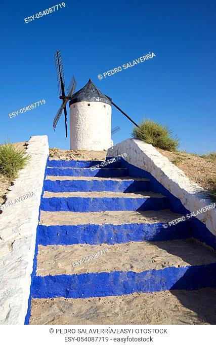 Windmill in Consuegra, Toledo Province, Castilla La Mancha, Spain