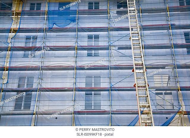 Building undergoing renovation