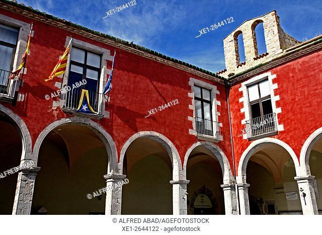 Former cloister of the convent of Sant Domenech, Castello d'Empuries, Alt Emporda, Catalonia, Spain