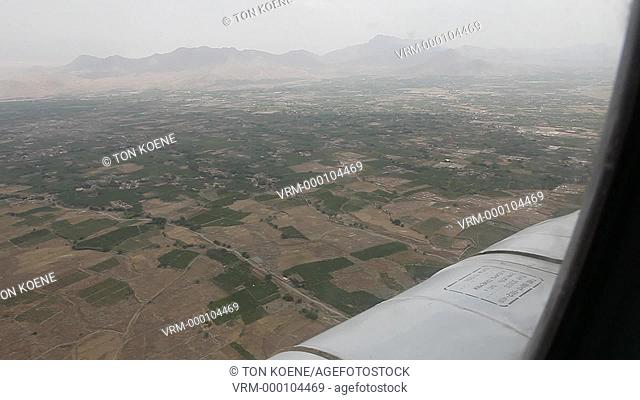 Aerial view between Kabul and kunduz, Afghanistan