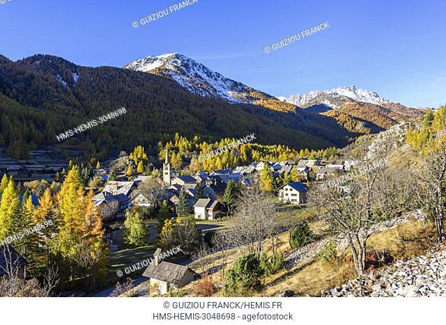 France, Hautes Alpes, Brianconnais in fall, Claree valley, Nevache village