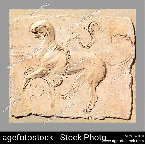 Stucco relief panel. Period: Early Imperial; Date: 2nd half of 1st century A.D; Culture: Roman; Medium: Stucco; Dimensions: Overall: 12 x 13 7/16 in