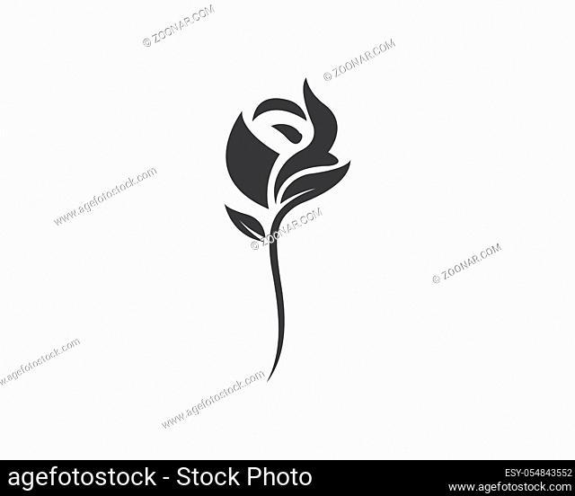 Rose flower Logo Template design