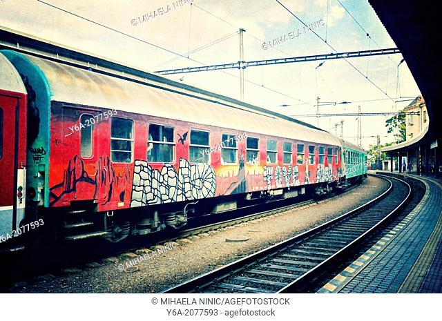Bratislava train station Slovakia Europe