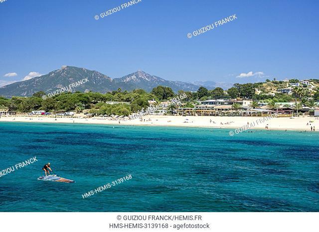 France, Corse-du Sud (2A), Taravo region, Porticcio beach in the Gulf of Ajaccio