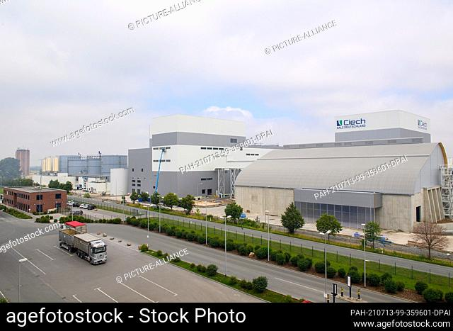 12 July 2021, Saxony-Anhalt, Staßfurt: The new plant of the chemical company Ciech. The company is one of the leading producers of evaporated salt and is...