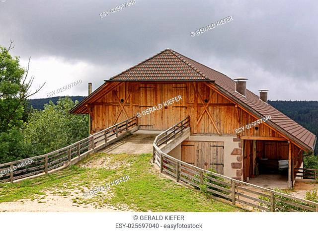 high entrance at a farm on the ritten in south tyrol