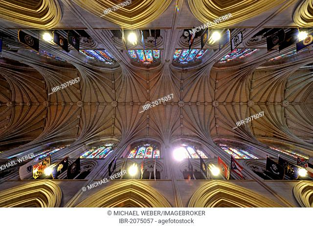 Ceiling, nave, Washington National Cathedral or Cathedral Church of Saint Peter and Saint Paul in the diocese of Washington, Washington, DC