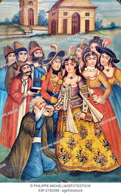 Iran, Fars Province, Shiraz, Qajar era painting, national museum