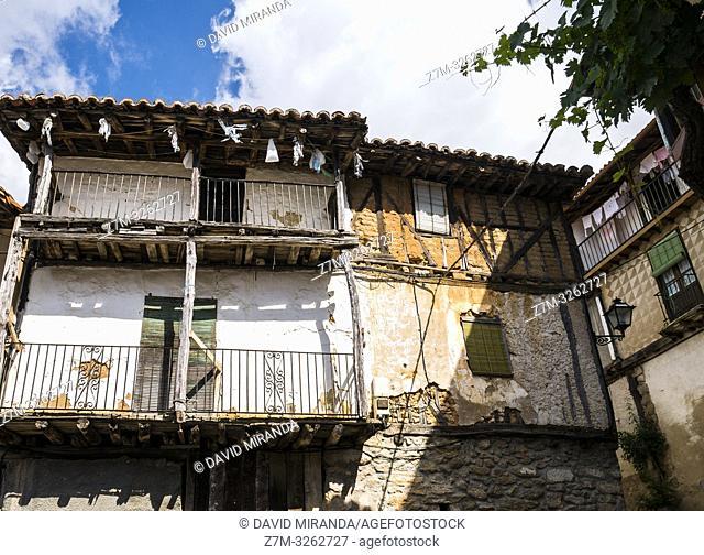 Arquitectura tradicional. Las Casas del Conde. Sierra de Francia. Salamanca. Castilla León. España