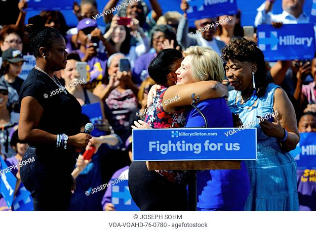 Presidential Hillary Clinton Attends Get out the Vote rally, Los Angeles