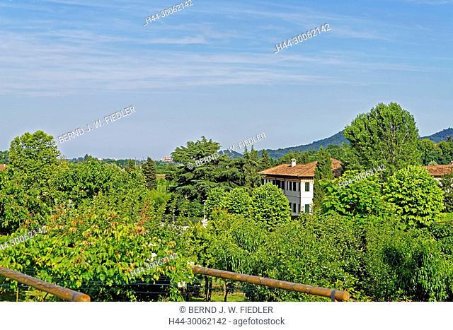Europe, Italy, Veneto Veneto, Torreglia, Via dei Vescovi, Colli Euganei, Euganeische hill, local view, trees, plants, place of interest, tourism, building