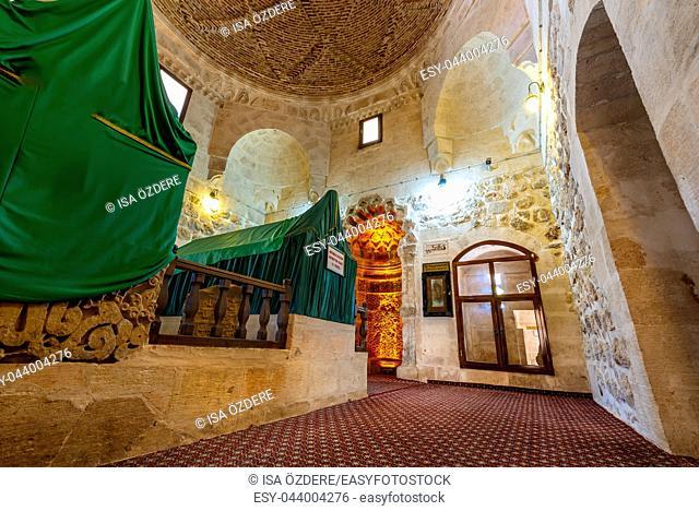 View of tombs, mausoleum in Hatuniye (Sitti Radviyye) Mosque and Madrassa , a popular landmark in Mardin, Turkey. 17 June 2018