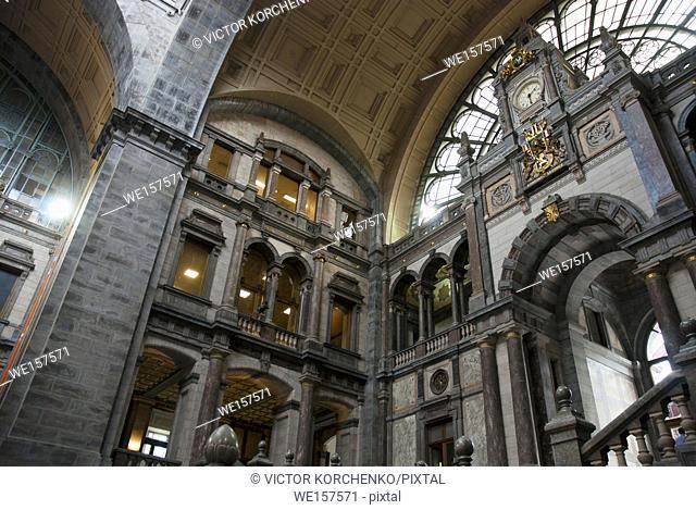 Antwerp train station interior